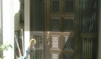 玄関ドア リフォーム工事 ~ カバー工法